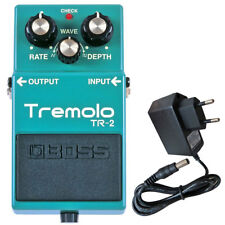 Boss TR-2 Tremolo Guitar Effect Pedal+ Power Supply