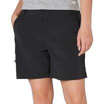 Helly Hansen Womens Shorts Black Size 36 Three Pocket UV Protection $50 390