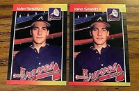 1989 Donruss #642 John Smoltz RC - Braves (2)
