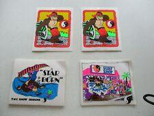 4 Aufkleber Town & Country Surfen,2 & 2, 80er Sticker Reste ehem.Surfladen!