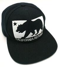 CALIFORNIA REPUBLIC BEAR FLAG black adjustable cap / hat