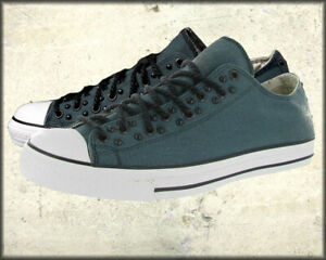 Affliction Famor Mens Celtic Cross Dome Studs Low Top Canvas Sneakers Blue 10-13