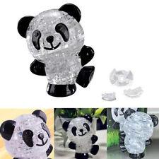 Precision 3D Cute Panda Crystal Puzzle Jigsaw DIY IQ Toy Kid Gift Game ATAU