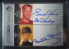 2001-02 UD SP Authentic DUAL AUTOgraph **HOWE,ORR** #150/150 1/1 2002 Upper Deck