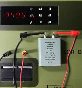 NOS  - Dubilier Nitrogol - Paper In Oil (PIO) Capacitors - 1uF / 600 VDCW
