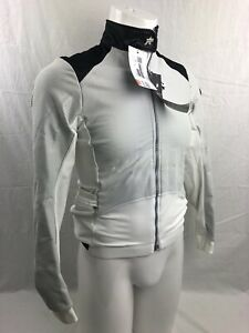 ASSOS AirJack 851 AirBlock Winter Cycling Jacket Mens Medium Full Zip White NEW