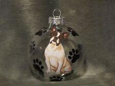 """Hand Made French Bulldog 3"""" Glass Christmas Ornament / Ball"""