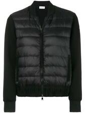 NEW MONCLER LADIES BLACK CURRENT ZIPPED DOWN PADDED LOGO ZIP JACKET XS