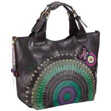DESIGUAL WOMENS SHOPPING SHOULDER BAG OPENWORK HANDBAG TOTE FLORAL LARGE NEW 208