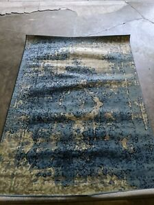 nuLOOM New Traditional Vintage Distressed traces Area Rug in Blue Multi 5x7