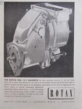 8/1946 PUB ROTAX ROLLS-ROYCE MERLIN ENGINE MOTEUR MAGNETOS ORIGINAL AD