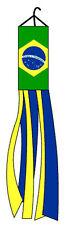 """60"""" BRAZIL WINDSOCK FLAG BRAZILIAN 5 FEET OUTDOOR INDOOR"""