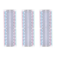 3 x MB102 Breadboard 830 Point Solderless Prototype PCB Board UK Seller