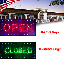Usa Ultra Bright Led Neon Light Open/Closed Business Sign for bar/ Resterant Fda