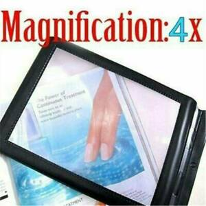 Full Page Magnifier Sheet 4x Big Large Magnifying Glass Reading Book Aid Lens AU