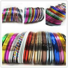 30 Rolls Striping Tape Line Nail Sticker Nail DIY Kit Nail Art UV Gel Tips