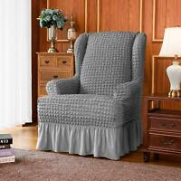 Subrtex Stretch Wing Chair Cover Slipcover Wingback Armchair Furniture Cover
