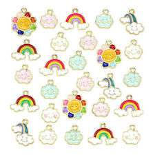 20pcs Alloy Enamel Pendant Charm Mixed Assorted Daisy Flower Jewelry Accessories