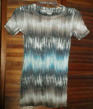 JUNIOR GIRLS SMALL TIE DYED STRIPED T-SHIRT-SMALL-SHORT SLEEVE