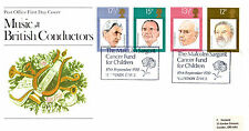 10 SEPTEMBER 1980 FAMOUS CONDUCTORS PO FIRST DAY COVER CANCER FUND FOR CHILDREN