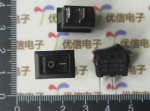 50pcs ON / OFF Rocker Switch 250VAC 3A 2 Connectors 2 Pin