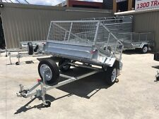 7x5 GALVANISED CAGE TRAILER | MANUAL TILT | FULL CHECKER PLATE | ON SPECIAL!!!