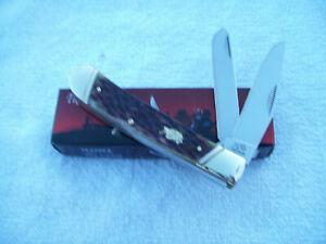 Bulldog Brand 2 Blade Trapper Knife #BDG-108AGB Antique Green Bone Handles NIB