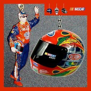 NASCAR - JEFF GORDON FIGURE & MINI RACING HELMET #24 CEILING FAN/CHAIN PULL SET
