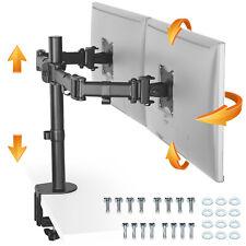"RICOO Dual 2 Monitor doppel Tischhalterung schwenkbar neigbar 13""-29"" TS5811"