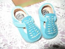 new in box Livie & Luca aqua suede t strap shoes toddler girl 4 M free ship Usa