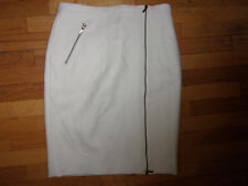 NWT J.CREW WOOL ZIP PENCIL SKIRT IVORY SIZE 8 Lined