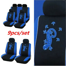 Salamander Pattern Car Seat Cover Front Rear Full Set Auto Accessory Universal