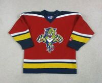 Starter John Vanbiesbrouck Florida Panthers Hockey Jersey Youth Large Red Kids *