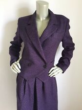 Women's Vintage 1980's Christian Dior Pointed Blazer Jacket Skirt Suit Size 6/8