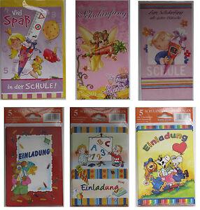 Glückwunschkarten Einladungen Schulanfang Klappkarten Karten Glückwunsch