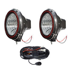 9 Inches 4x4 Off Road 6000k 55w Xenon Hid Fog Lamp Light Flood 2pcs Withrelay