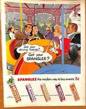Original Vintage 1950s Spangles Advertisement - Picture Post Magazine Apr. 1956