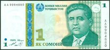 TWN - TAJIKISTAN 14a - 1 Somoni 1999 UNC Prefix AA