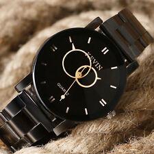 Vogue Men's Stainless Steel Sport Watch Luxury Casual Quartz WristWatch Black