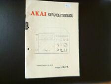 Original Service Manual Schaltplan  Akai UC-F5