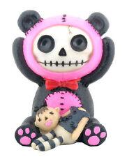 Furry Bones PINK PANDIE the Panda Bear Figurine, Skeleton in Costume, NIB
