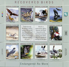 Marshall Islands 2017 MNH Recovered Birds 10v M/S Storks Pelicans Cranes Stamps