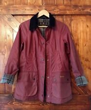 Barbour Wax Jacket BEADNELL Coat US 4 (UK 8) Red SMU Hope