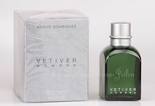 Adolfo DOMINGUEZ-VETIVER HOMBRE - 120ml EDT Eau de Toilette Nuovo/Scatola Originale