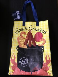 1 Trader Joe's Reusable Eco Bag NEW SOUTH CAROLINA Low Country Palmetto Southern