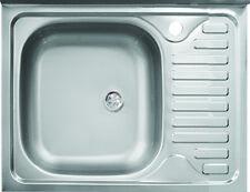 Lavello appoggio in acciaio L 60 cm vasca a sinistra, compra dal produttore!