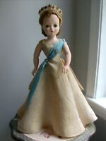 1957 Madame Alexander Gold Brocade Gown tagged Cissy and Crown- NO DOLL