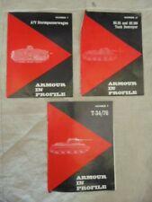 3 REVUES ARMOUR IN PROFILE 7 + 9 + 21 A7V STURMPANZERWAGEN SU85 SU100 T34-76