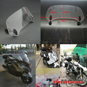 Clear Motorcycle Extension Wind Screen Spoiler Adjustable Air Flow Deflector US