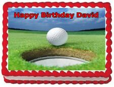 GOLF BALL IMAGE frosting sheet CAKE TOPPER BIRTHDAY DECORATIONS